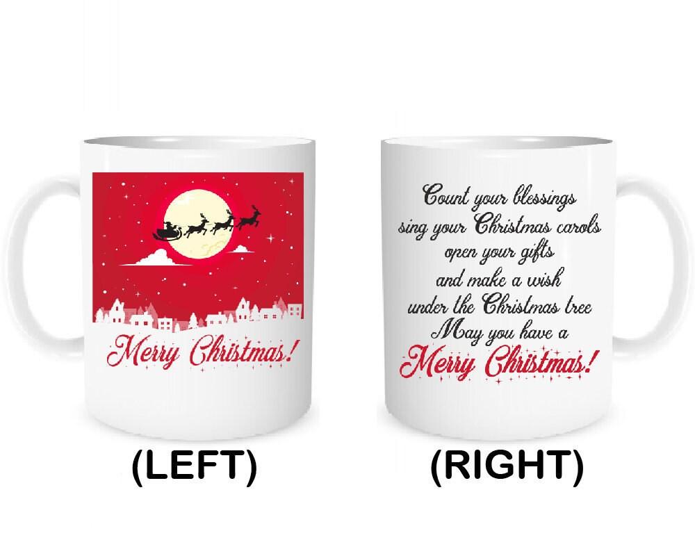 Frohe Weihnachten Tasse Kaffee Becher personalisierte Geschenk