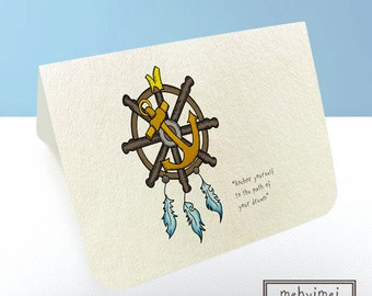 Handmade Inspirational Card (Anchor)