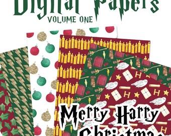 Merry Harry Christmas - Digital Papers - Volume 1