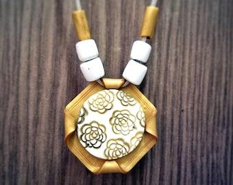 KASAVU II Polymer Clay Fashion Jewelry, Ethnic necklace set, Handmade Jewelry, Festive Jewelry, Gift