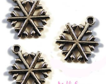 Set of 5 snowflakes Christmas scrapbooking carterie.* charms