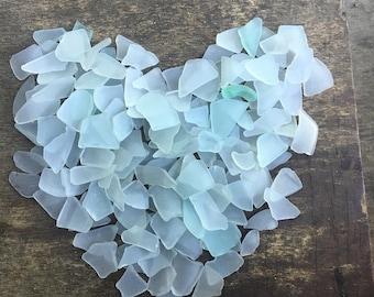 Tiny Sea glass pieces light  blue sea glass bulk blue beach glass  jewelry making aquarium aqua teal seafoam sea glass small