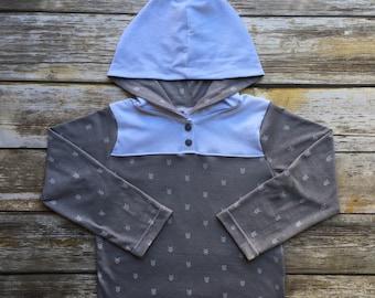 4T Long Sleeve Hooded Shirt