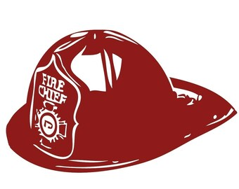 Fire Fighter Fireman Hat Wall Decal