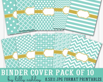 Binder Cover Printables SET 8.5X11-JPG Format (not editable)-Includes 10 binder covers and & spine sheet 3 widths! planner binder recipe etc