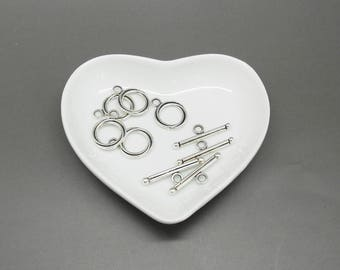 5 toggles for 16 x 13 mm silver color jewelry clasps
