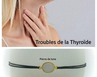 """""""Thyroid"""" Bracelet: Moonstone"""
