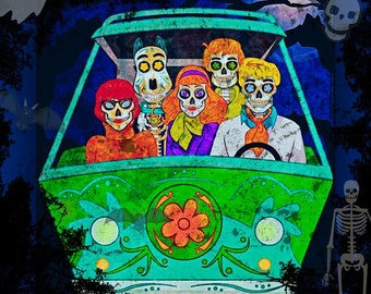 Scooby Doo Day Of The Day  Dead Print