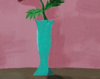Mini Single Rose Vase Portrait