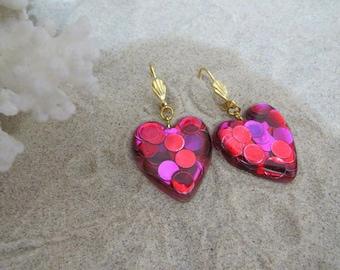 Confetti hearts earrings...