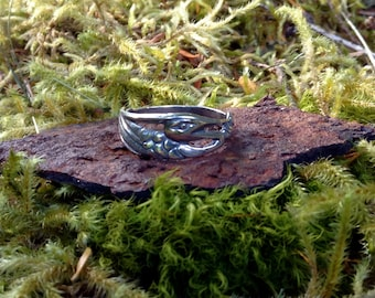 Heron Ring, Alaskan Heron Ring, Silver Heron Ring, Heron Jewelry, Great Blue Heron, Made In Alaska, Heron Totem, Heron Talisman