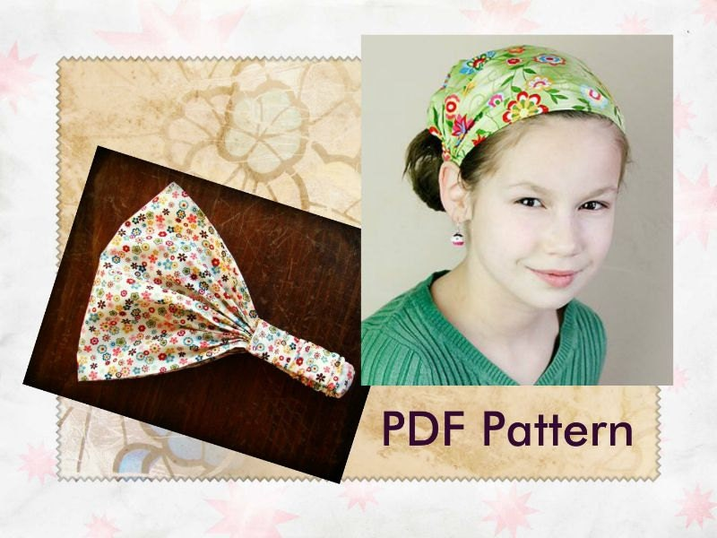 CHILDRENS Fabric Headband Pattern for Children Wide Headband Wide ...