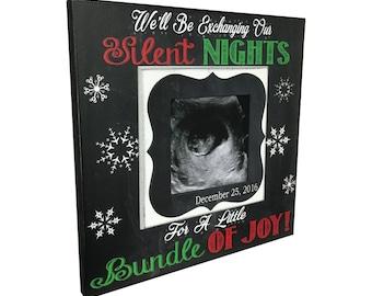 CHRISTMAS PREGNANCY REVEAL idea ~ Sonogram Photo ~ Sonogram Picture Frame ~Baby Reveal Idea to Parents~ Reveal to Family