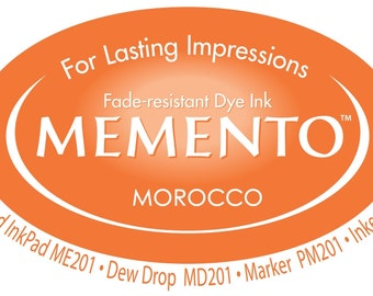 New Memento Full Size Ink Pad - MOROCCO (Deep Orange) - Fade Resistant Dye Ink by Tsukineko