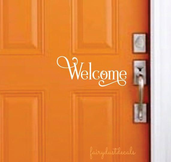 Favorite Welcome Decal Entryway Sticker Front Door Greeting Vinyl FD08