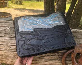 Rockabilly Hot Rod Cadillac Pinstriped Gun Case