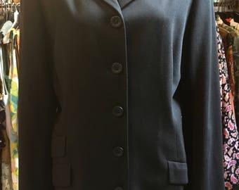 1990' Versace sport black long jacket. Size M/L.