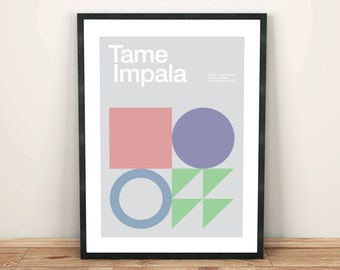 Tame Impala Remixed Gig Poster, Art Print, Music Poster