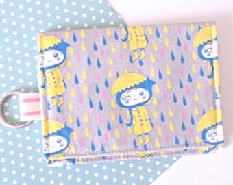 Kawaii business card etsy kawaii wallet business card holder keychain wallet kawaii fabric colourmoves