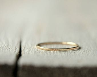 Stackable Gold Ring, 9ct solid gold, Tracer Band, BFF, friendship, anniversary, valentine gift