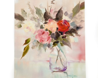 Floral Giclee on Canvas RUBY