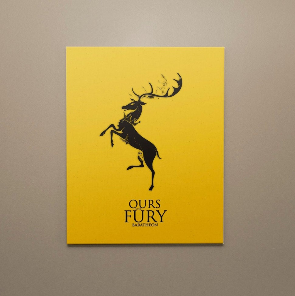 Game of Thrones Canvas Wall Art House Baratheon Ours is