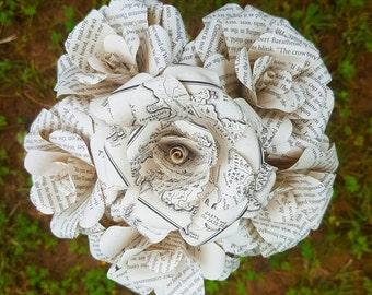 Game of Thrones Book Bouquet-book lover gift-Book Bouquet-Book decor- Unique Gift- Bridal Bouquet- Paper Flowers- Khaleesi- GOT- Valentines