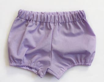 Lavender Bloomers / Bloomers / Baby Bloomers / Cotton Baby Bloomers / Bubble Shorts