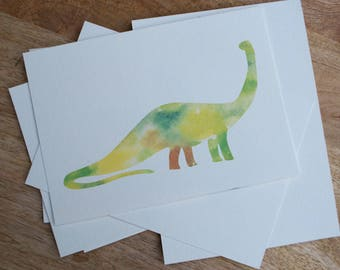 Watercolor Brontosaurus Print
