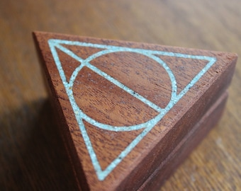 parillaworks Deathly Hallows Engagement Ring Box
