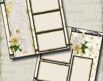 THE WEDDING - Nine - 2 Premade Scrapbook Pages - EZ Layout 665