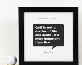 Personalised Golf Print; Personalised Golf Gift For Men; Golfer Gift; Golfing Print; Golf Lover Gift; Golf-Mad Gift; Love Golf Gift; PAP103