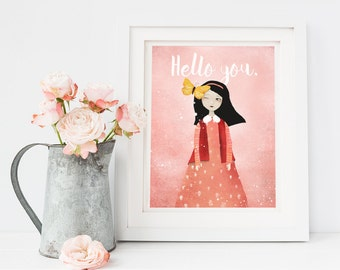 Hello you. - Deluxe Edition Print - Whimsical Art