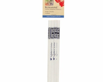 Roxanne's Quilters Choice Chalk Pencils (4 White), Sewing, Crafting, DIY, Roxanne