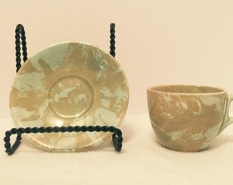 Vintage Petite Hand Made Tea Cup & Saucer