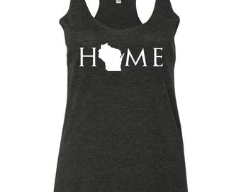 Wisconsin home tank top, Your state tank, Wisconsin shirt, Wisconsin tank top, Wisconsin home, Wisconsin home T