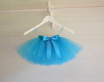 Turquoise tutu, Girls tutu, Flower Girl tutu dress, tulle skirt,  ballet tutu, tutu skirt, baby tutu, wedding tutu, flower girl dress, tutu