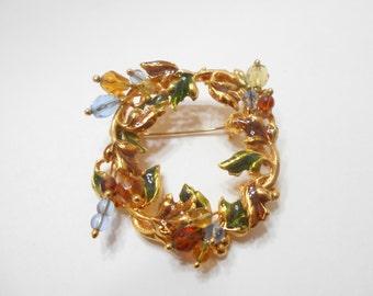 Vintage KC (Kenneth Cole) Wreath Brooch (8718)