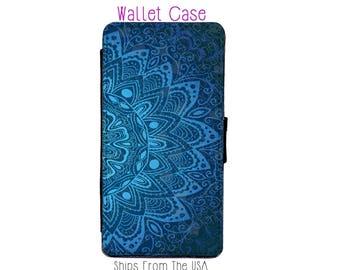 Blue Mandala iphone 7 Case , iphone 7 case , iphone 7 Wallet Case , iphone 7 , iPhone 7 Wallet