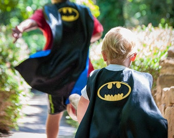 Batman Cape, Batman Costume, Batman Cosplay, Superhero Kids Clothes, Batman Birthday, Childrens Superhero Cosplay