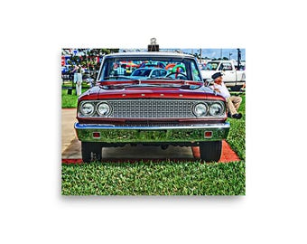 1963 Ford Fairlane Poster, Muscle Car Poster, Muscle Car Art, Fairlane Hot Rod Art, Fairlane Car Art, Ford Car Art, Gift for Guys