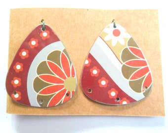 Upcycled Contemporary Decorative Tin Earring Findings Pair