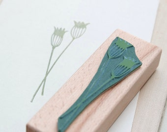 Rubber stamp | Cornflower | floral stamp | ecofriendly | STUDIO KARAMELO