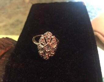 Avon silver plate ring