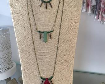 Necklace triple strand