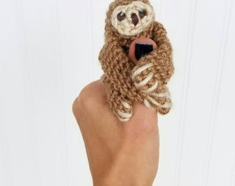 Mini Sloth Plush - Crochet Sloth - Sloth Plushie - Sloth Keychain - Gifts Under 20 - Stocking Stuffers - Gifts For Teens
