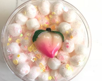 Peachy Puffs Floam Slime