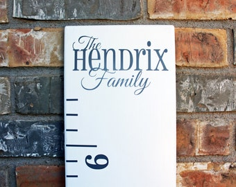 DIY Growth Chart Ruler Add-On -- Custom Personalized Decal -- Top Header -- Family Name
