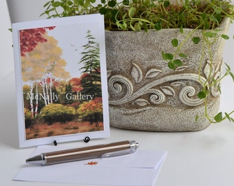 Fall note cards photo print of my original painting,Blank card, sympathy greeting card