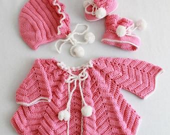 Ripple Layette Crochet Pattern PDF